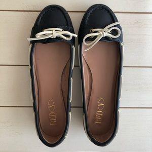 RED Valentino • Boat Shoe Flats Nautical Navy